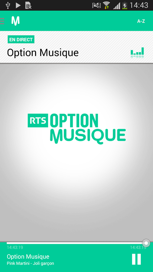 RTSradio – Capture d'écran