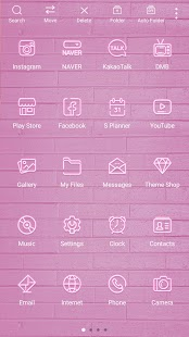 Simple Pink Neon theme - náhled