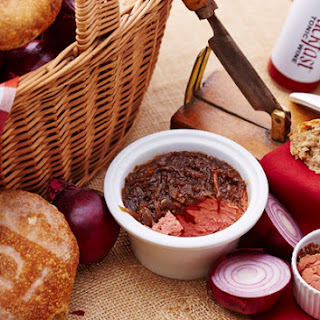 Buckfast Chicken Liver Pate with Caramelized Onions.