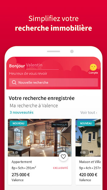 SeLoger - achat, location Android App Screenshot