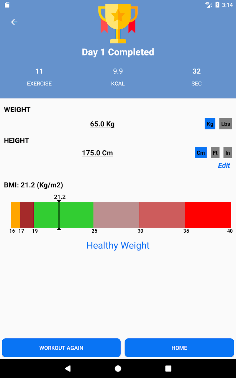 Home Workouts Gym Pro (No ad) Screenshot 17