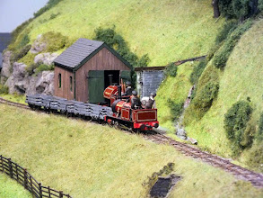 Photo: 117 Both of the original engines in view on Tim Tincknell's 5.5mm scale Talyllyn Railway layout .