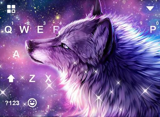 Starry Wolf Keyboard Theme screenshot