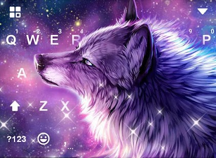 Starry Wolf Delicate Keyboard Theme - náhled