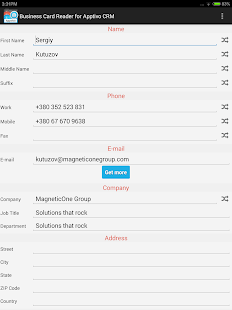 Free Business Card Reader for Apptivo CRM- screenshot thumbnail