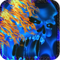 Blue Ghost Skull Fire LWP icon