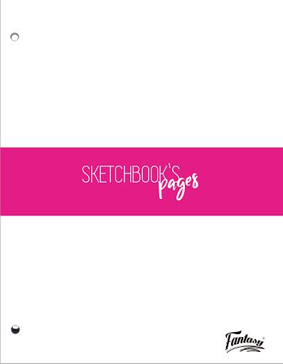 sketchbook pages fantasy 100 hojas Fantasy