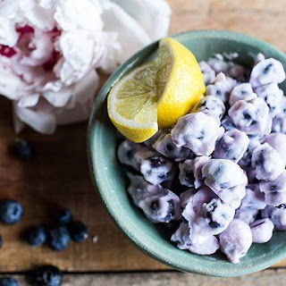 Frozen Yogurt Covered Blueberries