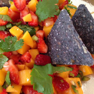 Sweet and Spicy Strawberry Mango Salsa