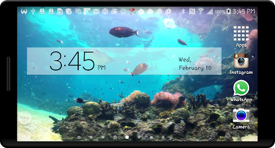 Peaceful Aquarium LWP screenshot 1