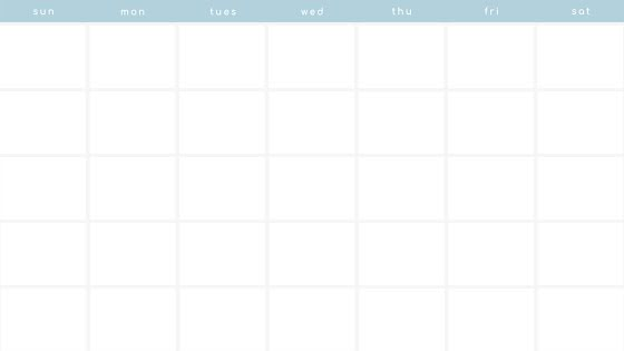 Minimal Monthly - Calendar Template