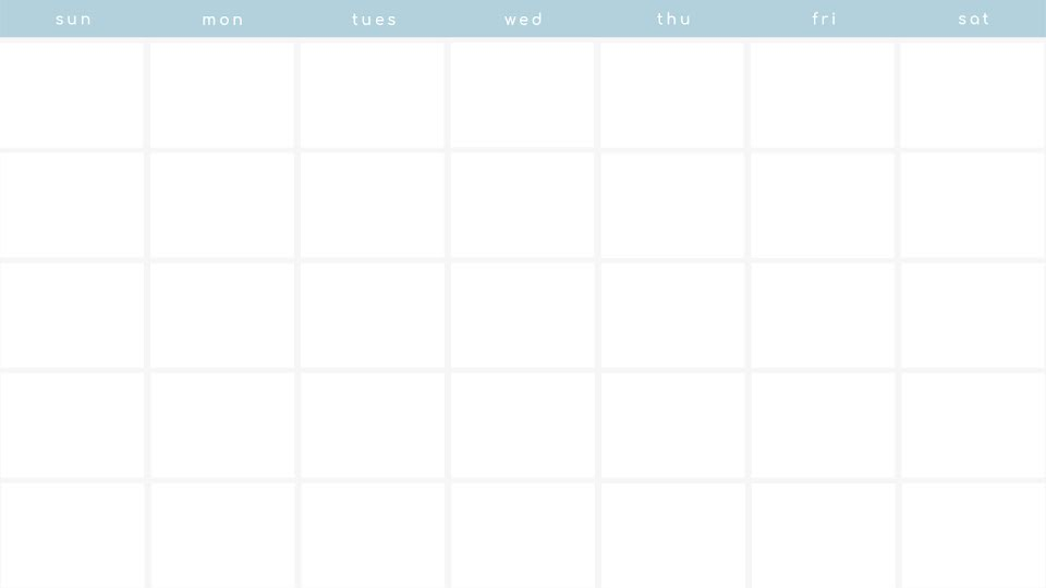 Minimal Monthly - Calendar Template