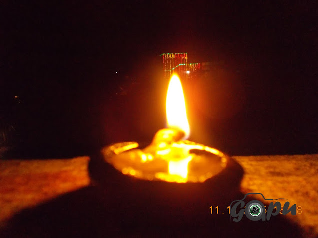 Diya on Diwali by Sangram Keshari Senapati