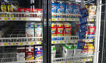 Photo: I noticed that the International Delight Mocha #IcedCoffee was near all of the lactose free and organic milks. I am lactose intollerant so that was a good sign for me!!