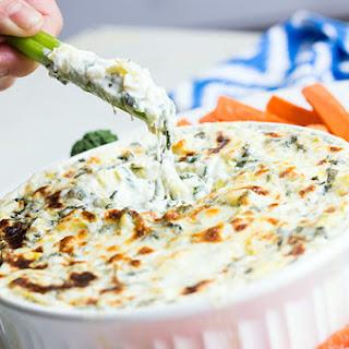 Skinny Spinach & Artichoke Dip