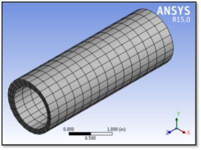 ANSYS - Сетка, по которой была построена геометрия модели в Workbench