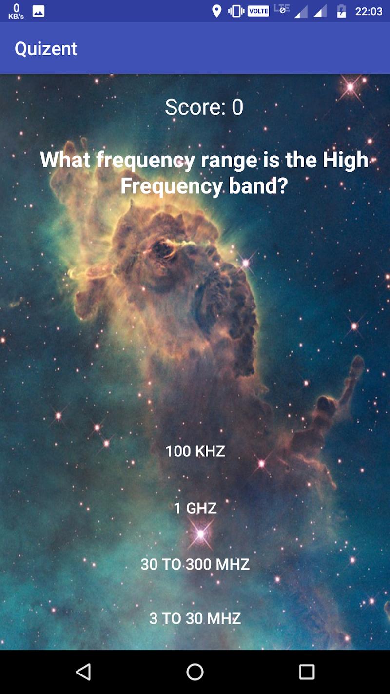 Скриншот Quizent