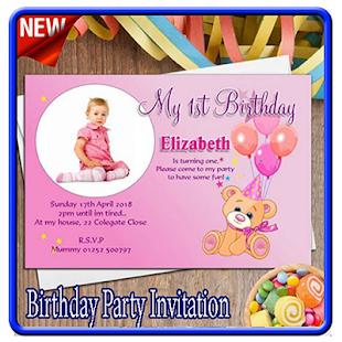 Birthday party invitation card apps on google play screenshot image stopboris Choice Image