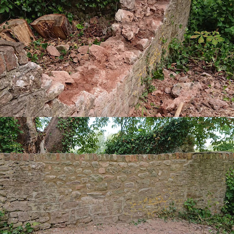 Mortar wall repaired in Thornbury