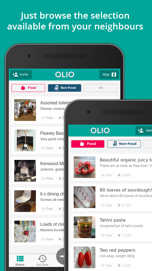 OLIO Local Sharing Revolution- screenshot