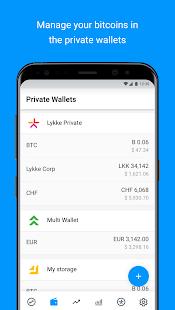 Lykke Wallet - náhled