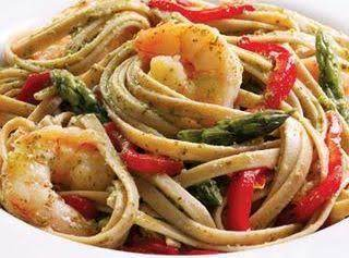 Shrimp & Pesto Pasta- Diabetic Connect Recipe