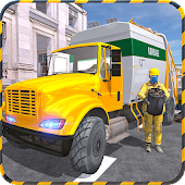 Real City Garbage Truck sim 3D