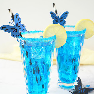 Electric Blue Butterfly Cocktail.