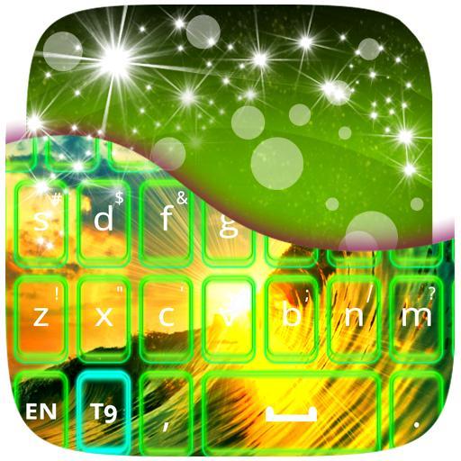 个人化のネオングリーンのキーボード LOGO-記事Game