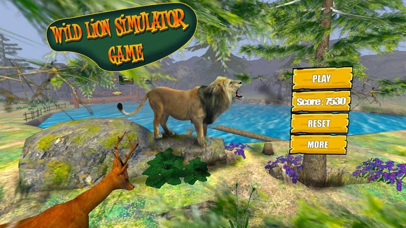 Скриншот Wild Lion Simulator Game