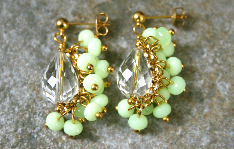 Photo: http://www.etsy.com/shop/AhteesDesigns Fanned Cluster Earrings featured in Spring 2012 Jewelry Affaire