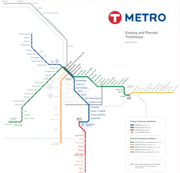 Minneapolis Subway Map