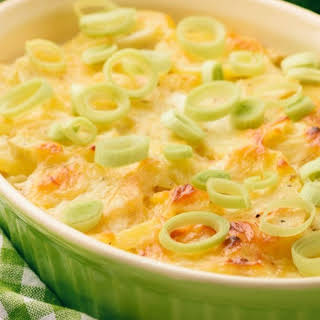 Chicken Casserole with Potatoes and Leeks.