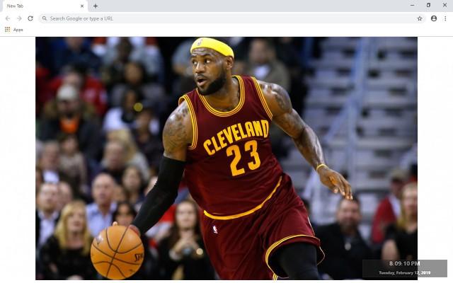 LeBron James  NBA New Tab