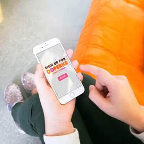 Sign up for the Dunkin' Donuts DD Perks program and earn free beverages!