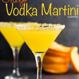 Orange Vodka Martini.
