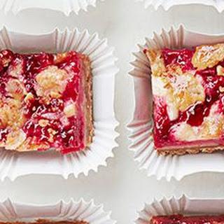 Raspberry-Rhubarb Crumb Bars