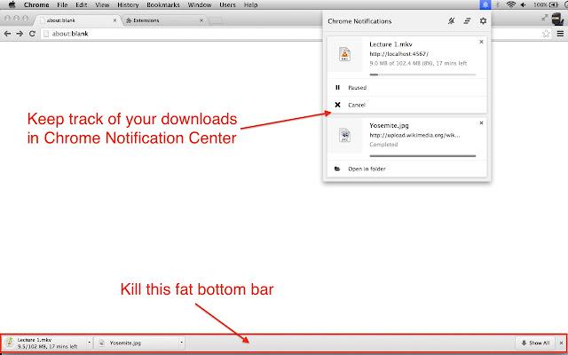 Downloads Notification