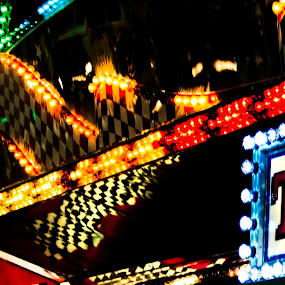 A night to remember by Christine Bottomly - City,  Street & Park  Amusement Parks ( lights, nigh, tickets, boardwalk )