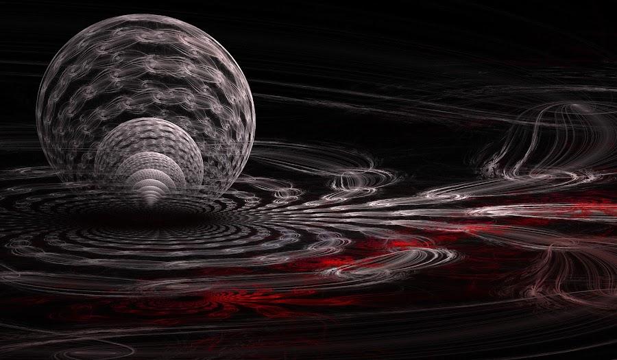 Beyond The Eclipse by Rick Eskridge - Illustration Sci Fi & Fantasy ( fantasy, moon, jwildfire, fractal, eclipse )