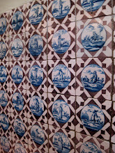 Photo: Tile wall in the kitchen. They're not all unique - there are a few different images.