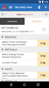 Atkins Carb Tracker- screenshot thumbnail