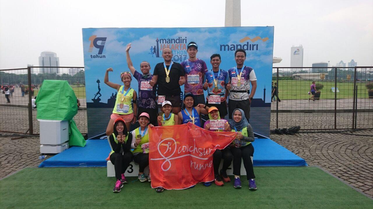 Kawan-kawan CS Runners yang sudah membantu banyak banget selama persiapan Jakmar 2017. Thank you so much, guys. <3