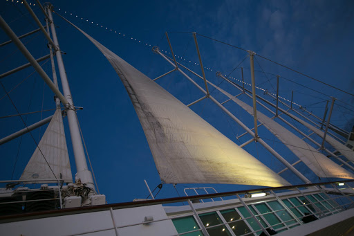 wind-surf-sails.jpg - The sails at twilight on Wind Surf, flagship of Windstar Cruises.