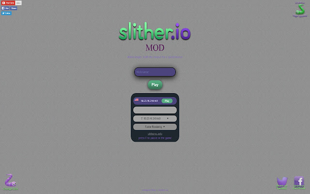 Slither.io Mod Play with friends Without LAGS Screenshot