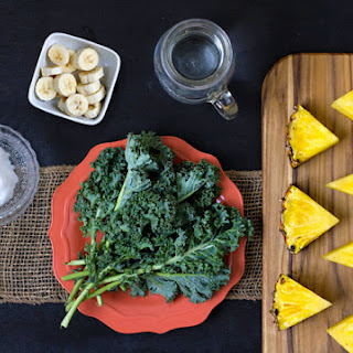 Pineapple, Kale, Coconut Oil