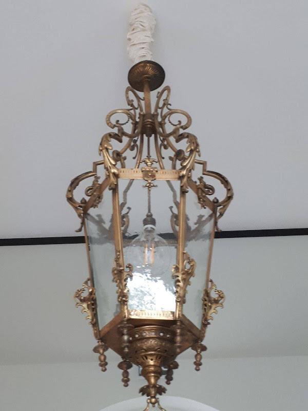 Kroonacker - Belle époque lantaarn , inkom Hotel Kroonacker