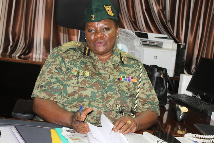 NYS director general Matilda Sakwa speaking to the Star at her office in Nairobi on Thursday.