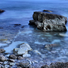 Waterscape in Cyprus by Anastasis Agathokleous - Landscapes Waterscapes ( rocks, waterscape, cyprus, long exposure )