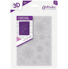 Crafters Companion Gemini 5x7 3D Embossing Folder - Shimmering Snowflake
